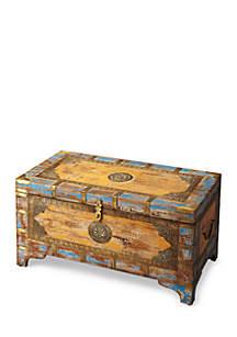 Nador Painted Brass Inlay Storage Trunk