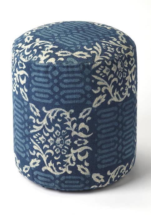 Butler Specialty Company Samode Blue Pouffe