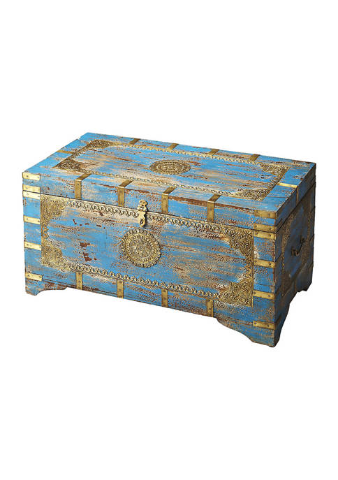 Butler Specialty Company Neela Painted Brass Inlay Storage