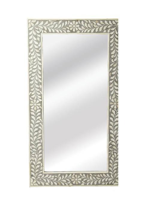 Vivienne Rectangular Bone Inlay Wall Mirror