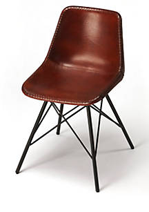 Butler Specialty Company Inland Brown Leather Side Chair