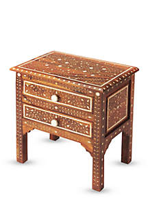 Chevrier Wood And Bone Inlay Accent Chest