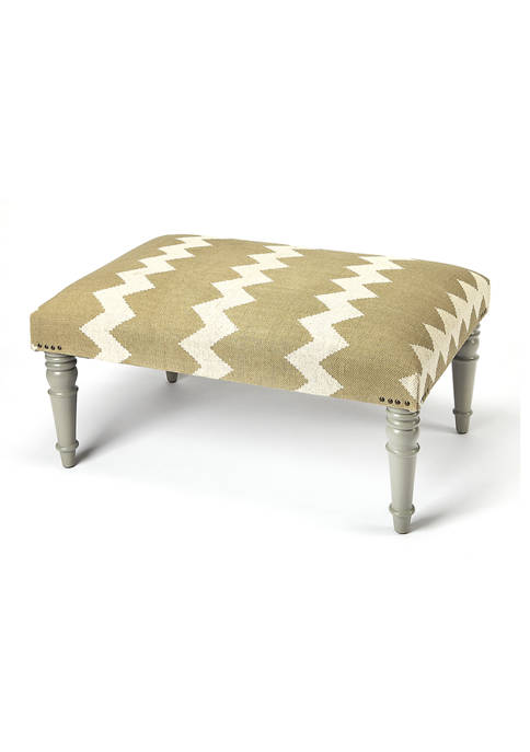 Butler Specialty Company Lucinda Zig Zag Upholstered Cocktail
