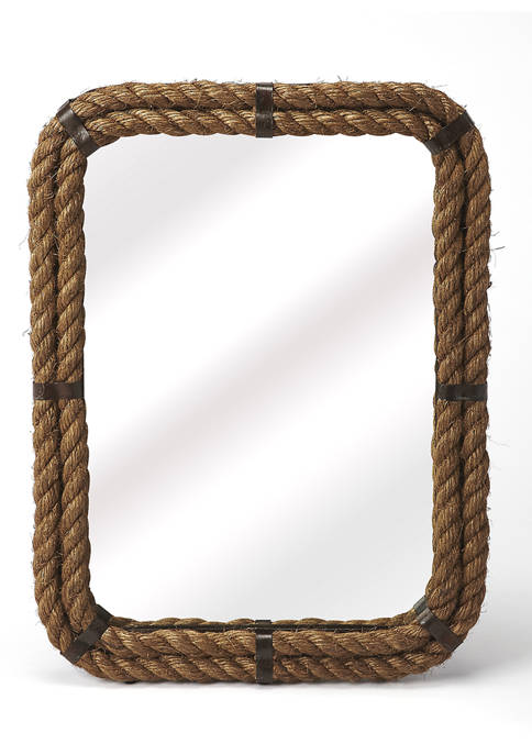 Butler Specialty Company Darby Rectangular Rope Wall Mirror