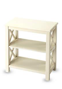 Vance Cottage White Bookcase