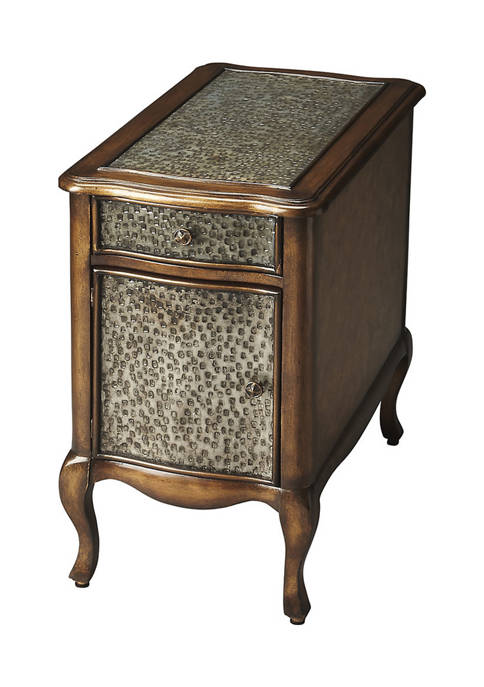 Butler Specialty Company Bosworth Hammered Metal Chairside Table