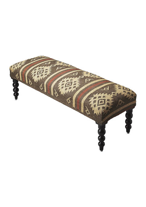 Butler Specialty Company Tribal Jute Upholstered Bench