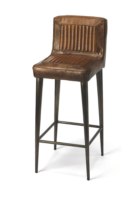 Maxwell Leather Bar Stool