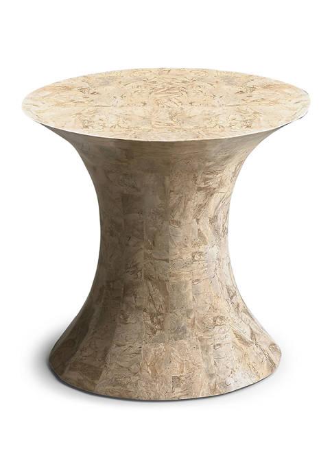 Jaxon Oval Fossil Stone Side Table