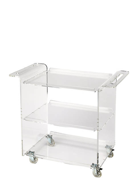 Butler Specialty Company Crystal Clear Acrylic Trolley Server