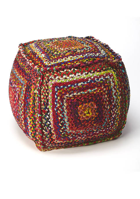 Butler Specialty Company Gypsy Multicolor Braided Pouffe