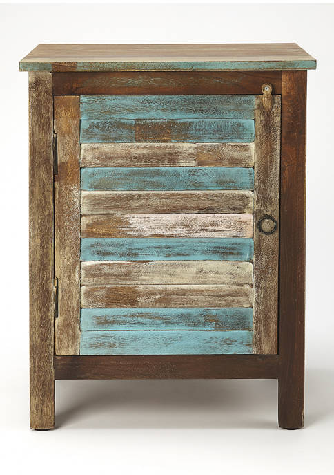 Rustic Shutter Painted Accent Cabinet