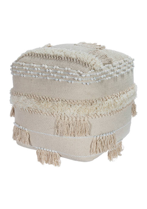 Butler Specialty Company Sherpa Square Pouffe