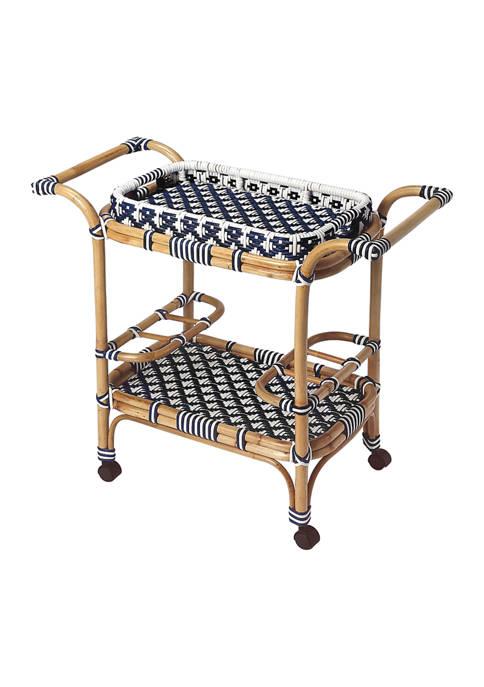 Butler Specialty Company Selena Rattan Bar Cart