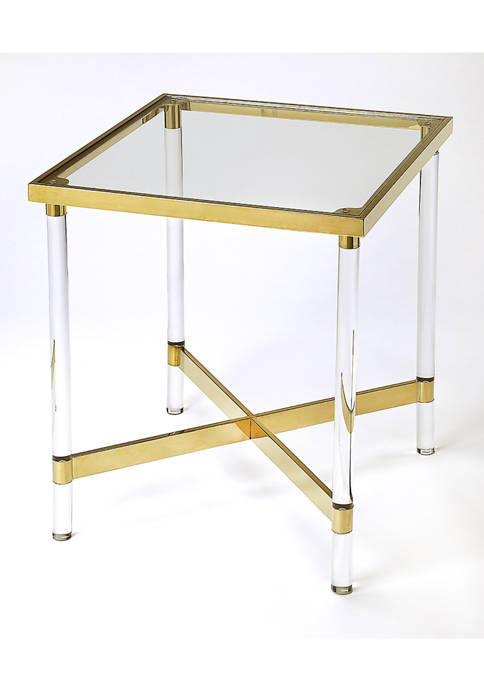 Charleise Acrylic Square End Table
