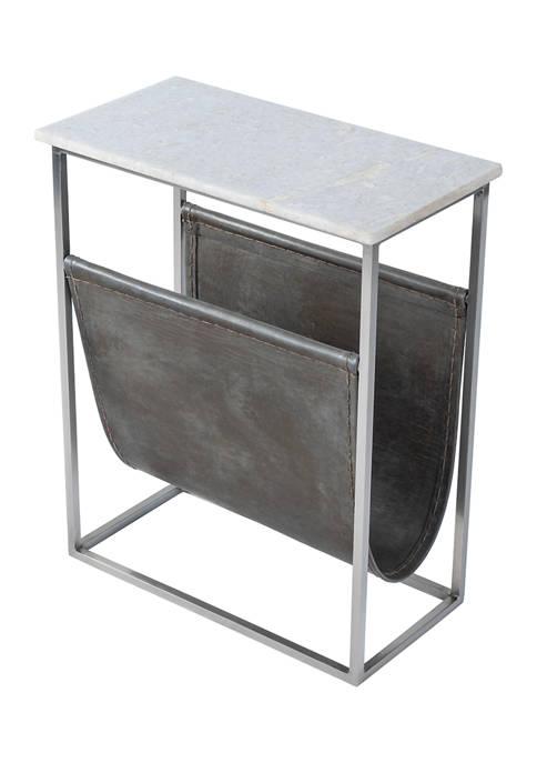 Koler Marble & Leather Magazine Table