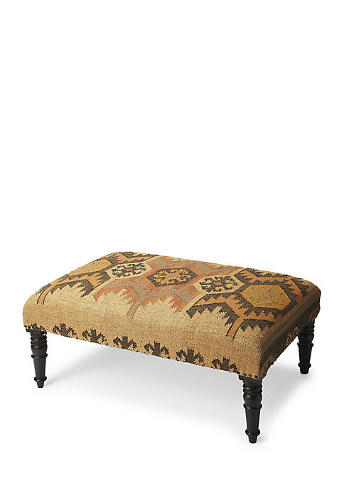 Butler Specialty Company Mesquite Jute Cocktail Ottoman