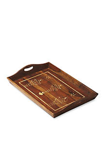 Butler Specialty Company Butler Buona Wood And Bone Inlay Serving Tray