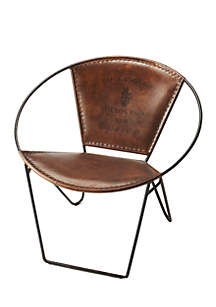 Milo Iron & Leather Accent Chair