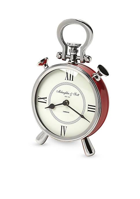 Butler Specialty Company Nickel Finish Desk Clock
