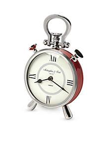Nickel Finish Desk Clock