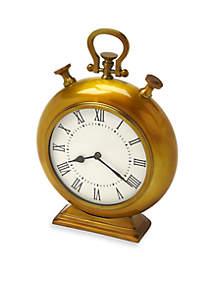 Kenilworth Anitque Brass Finish Desk Clock