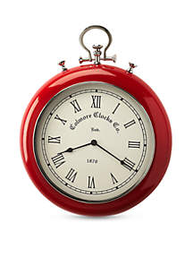 Butler Specialty Company Scarlet and Nickle Finish  Wall Clock