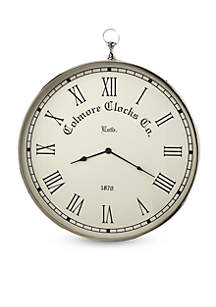 Butler Specialty Company Grafton Nickle Finish Wall Clock
