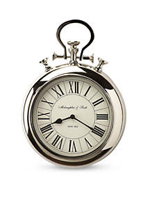 Butler Specialty Company Bulter Guilford Nickel Finish Wall Clock