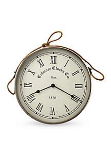 Butler Specialty Company Rockport Nickel Finish Wall Clock
