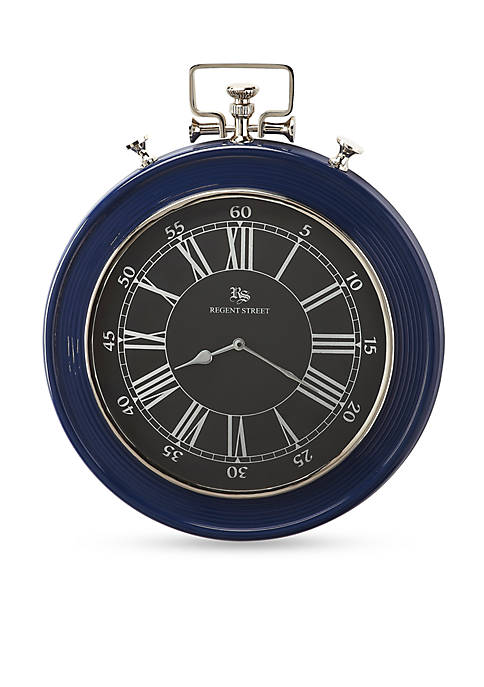 Butler Specialty Company Sapphire Blue Finish Wall Clock