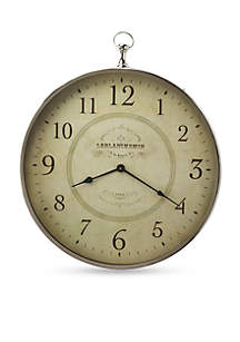 Butler Specialty Company Le Blanc Nickel Finish Wall Clock
