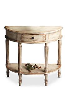 Mozart Chateau Gray Demilune Console Table