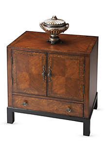 Butler Courtland Cherry and Burl Accent Cabinet