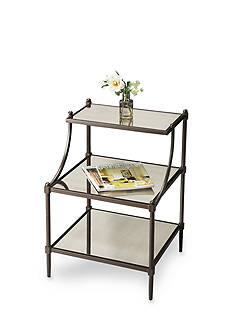 Butler Specialty Company Peninsula Mirrored Tiered Side Table