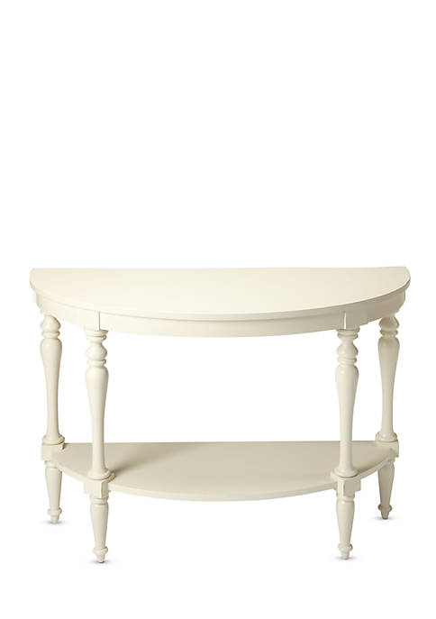 Butler Specialty Company Amherst White Demilune Console Table