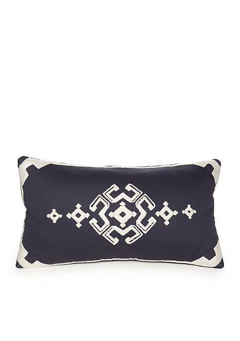 Modern. Southern. Home.™ Dory Navy Embroidered Boudoir Decorative
