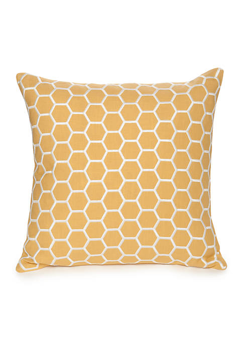 Modern. Southern. Home.™ Reece Embroidered Hexagon Decorative