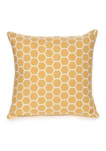 Reece Embroidered Hexagon Decorative Pillow