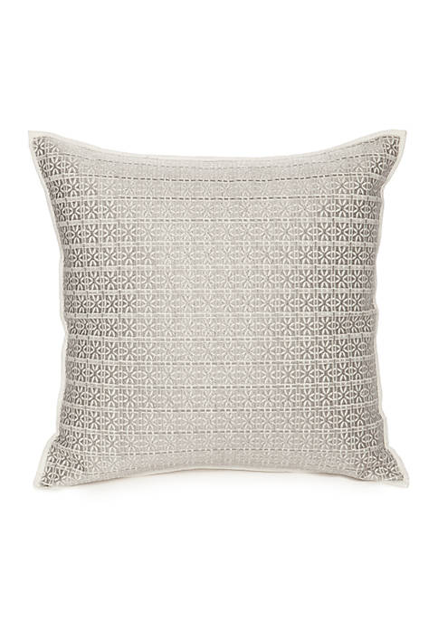Modern. Southern. Home.™ Reece Embroidered Tribal Grid Decorative