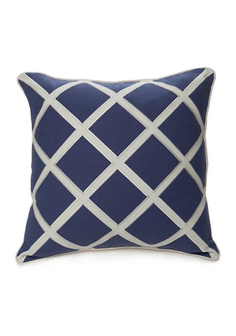 Brooke Applique Trellis Decorative Pillow