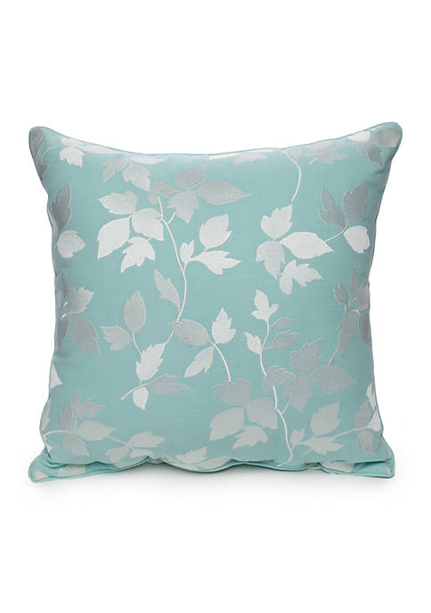 Elm Embroidered Leaf Decorative Pillow