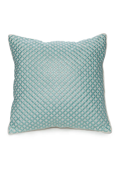 Elm Embroidered Circles Decorative Pillow