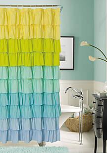 Dainty Home Flamenco Ruffled Shower Curtain