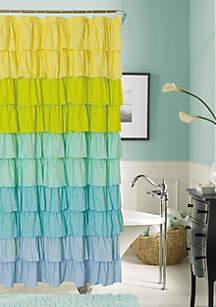 Flamenco Ruffled Shower Curtain
