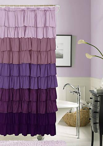 Dainty Home Flamenco Ruffled Shower Curtain | belk