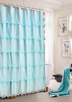 Dainty Home Lilly Ruffled Shower Curtain