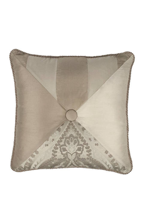 18 Inch Thread and Weave Tuscany Button Pillow