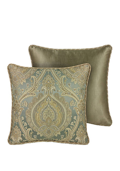 Rose Tree Norwich Damask Throw Pillow
