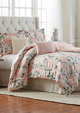 Modern Southern Home Blossom 6 Piece Comforter Bed In
